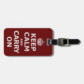 KEEP CALM AND CARRY ON 3 LUGGAGE TAG