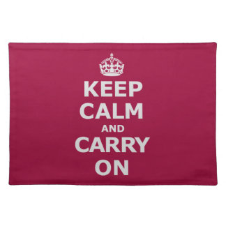 KEEP CALM AND CARRY ON 3 PLACEMAT