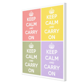 Keep Calm and Carry On 4 Panel Collage Canvas Print