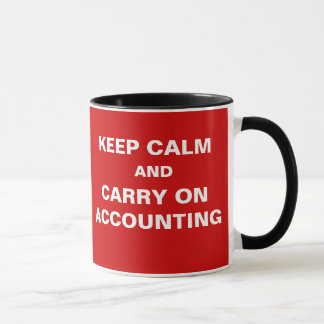 KEEP CALM AND CARRY ON ACCOUNTING... MUG