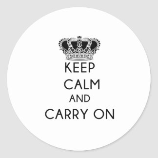 Keep Calm and Carry On Accounting Round Sticker