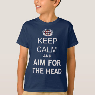 Keep Calm and carry on And Aim For The Head Zombie T-Shirt