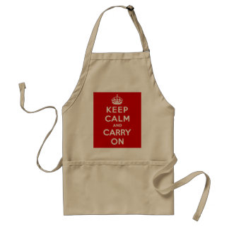 Keep Calm and Carry On Aprons