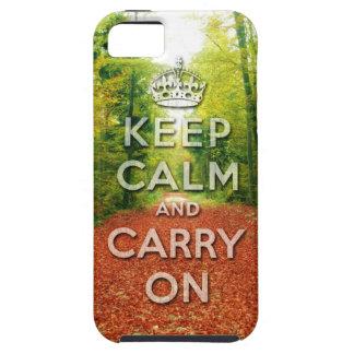 keep calm and carry on Autumn season iPhone 5 Case
