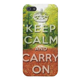 keep calm and carry on Autumn season iPhone 5 Cases