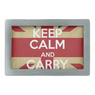 Keep Calm And Carry On Belt Buckles