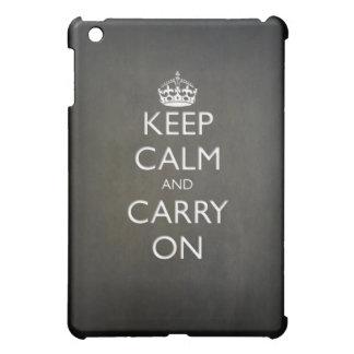 Keep Calm and Carry On (black stone) iPad Mini Case