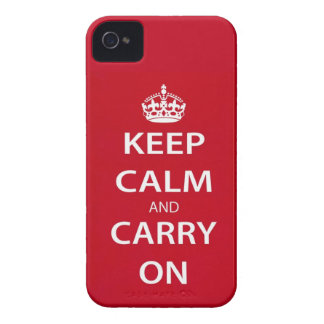 Keep Calm And Carry On Blackberry Bold Case