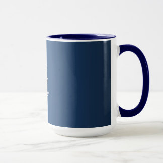 Keep Calm and Carry On (blue) Mug