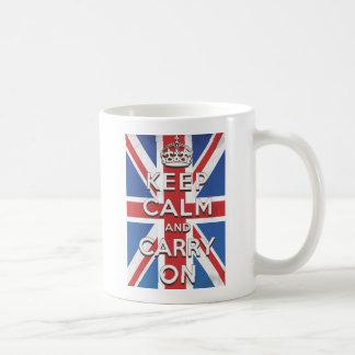 Keep Calm and Carry On British Flag Coffee Mug