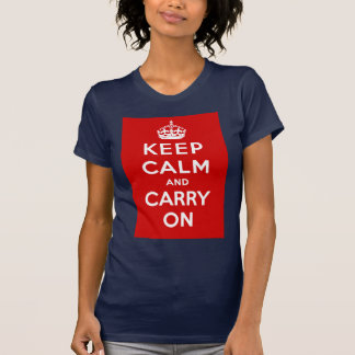 Keep Calm and Carry On British Poster on T shirts