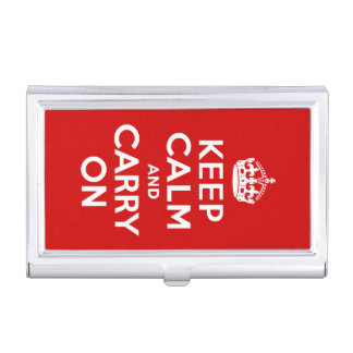 Keep Calm and Carry On Business Card Holder