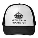 Keep Calm And Carry On Cap