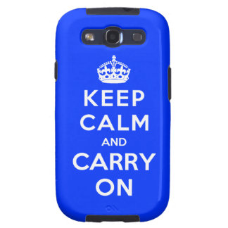 Keep Calm and Carry On Galaxy S3 Covers