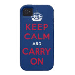 keep calm and carry on Case-Mate iPhone 4 cover