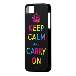 keep calm and carry on CMYK iPhone 5 Cover