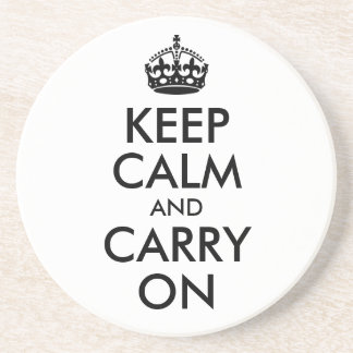 Keep Calm and Carry On Coaster