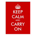 """Keep Calm and Carry On"" - Create your own! Postcards"