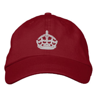 Keep Calm And Carry On Crown Embroidered Hat