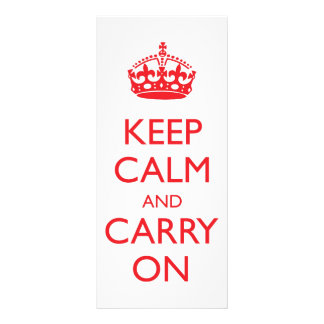 Keep Calm and Carry On Custom Rack Cards