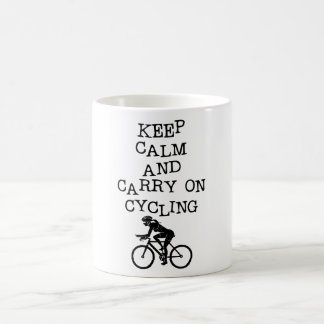 KEEP CALM AND CARRY ON CYCLING COFFEE MUG