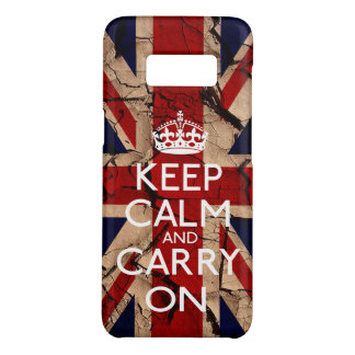 Keep Calm And Carry On Dirty Vintage UK Case-Mate Samsung Galaxy S8 Case