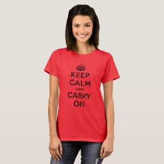 Keep Calm and Carry On, Distressed, Dark T-Shirt