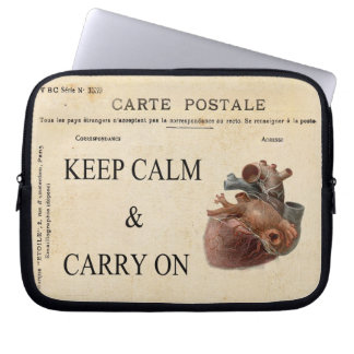 Keep Calm and Carry On Electronics Bag Laptop Slee