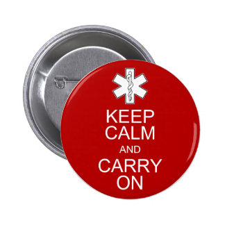 Keep Calm and Carry On - EMS Pins