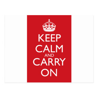 Keep Calm And Carry On: Fire Engine Red Postcard
