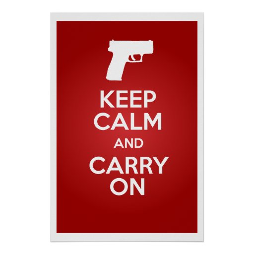 Keep Calm and Carry On Firearms XD SubCompact Poster