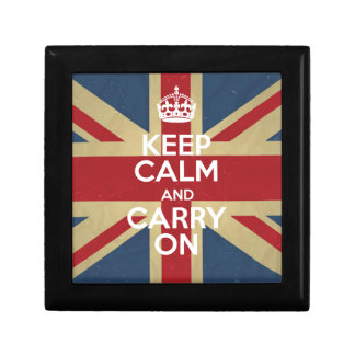 Keep Calm And Carry On Gift Box