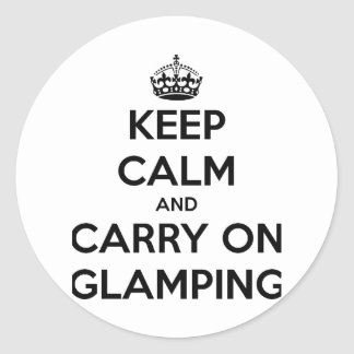 Keep calm and carry on glampling round sticker