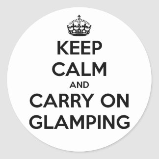 Keep calm and carry on glampling sticker