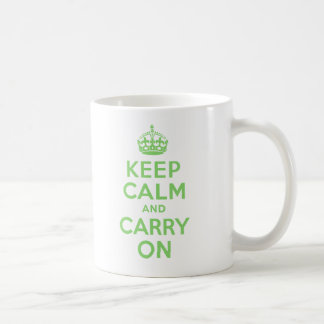 Keep Calm And Carry On Green Best Price Custom Coffee Mugs