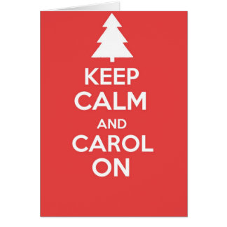Keep calm and carry on greetings card - XMAS