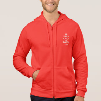 Keep Calm and Carry On Hooded Pullovers