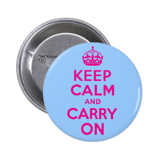 Keep Calm And Carry On Hot Pink Best Price Button