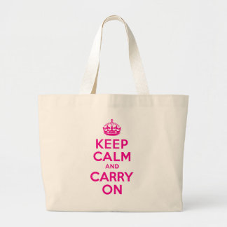 Keep Calm And Carry On Hot Pink Best Price Jumbo Tote Bag