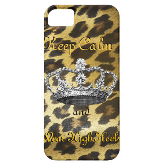 Keep Calm and Carry On (in High Heels) iPhone 5 Case