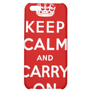 Keep Calm And Carry On iPhone 5C Case