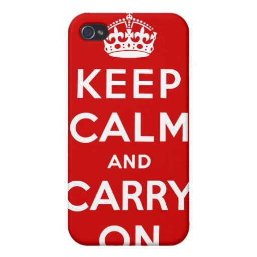 Keep Calm And Carry On Cover For iPhone 4