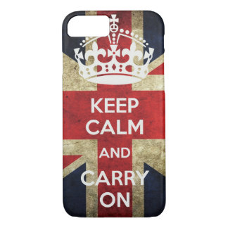 Keep Calm And Carry On iPhone Case