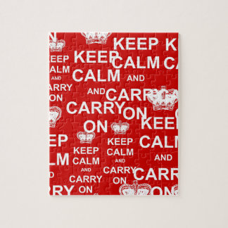 Keep Calm and Carry On Jigsaw Puzzle