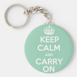 Keep Calm and Carry On Keychain