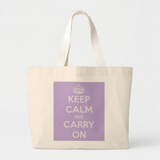 Keep Calm and Carry On Lavender Jumbo Tote Bag