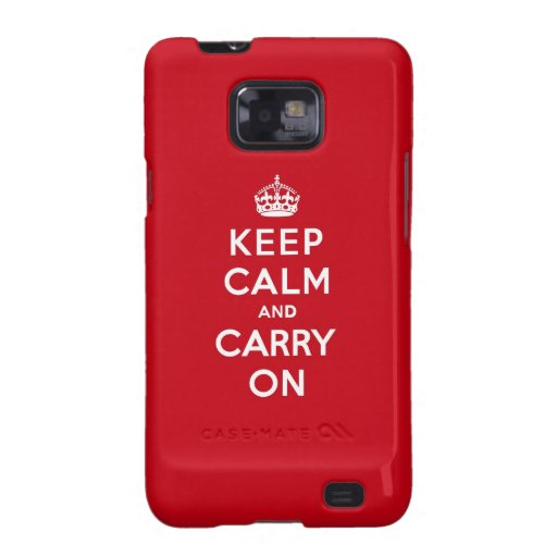 Keep Calm and Carry On London Red Galaxy SII Cases