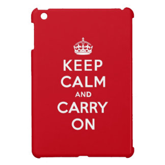 Keep Calm and Carry On London Red iPad Mini Cover