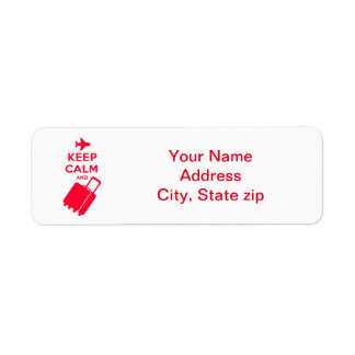 Keep Calm and Carry on Luggage Return Address Label