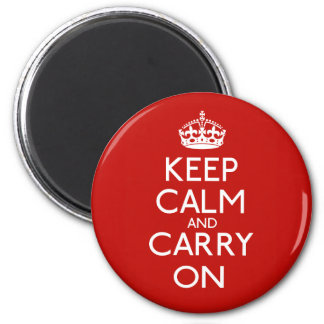 Keep Calm And Carry On 6 Cm Round Magnet